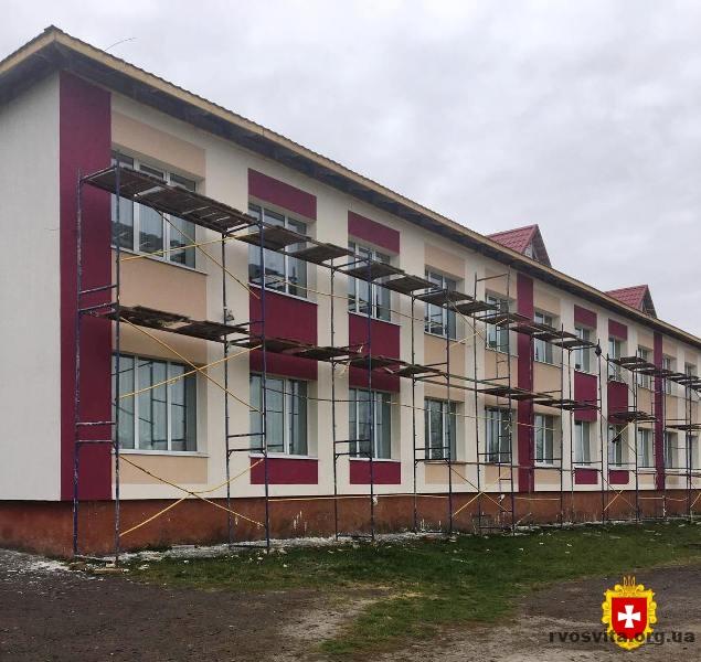 У розпалі – реконструкція опорної школи на Рівненщині