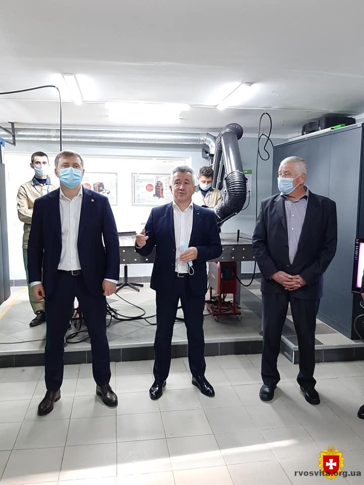 Сучасний технологічний центр для електрогазозварників створили на базі  Дубенського профтехучилища