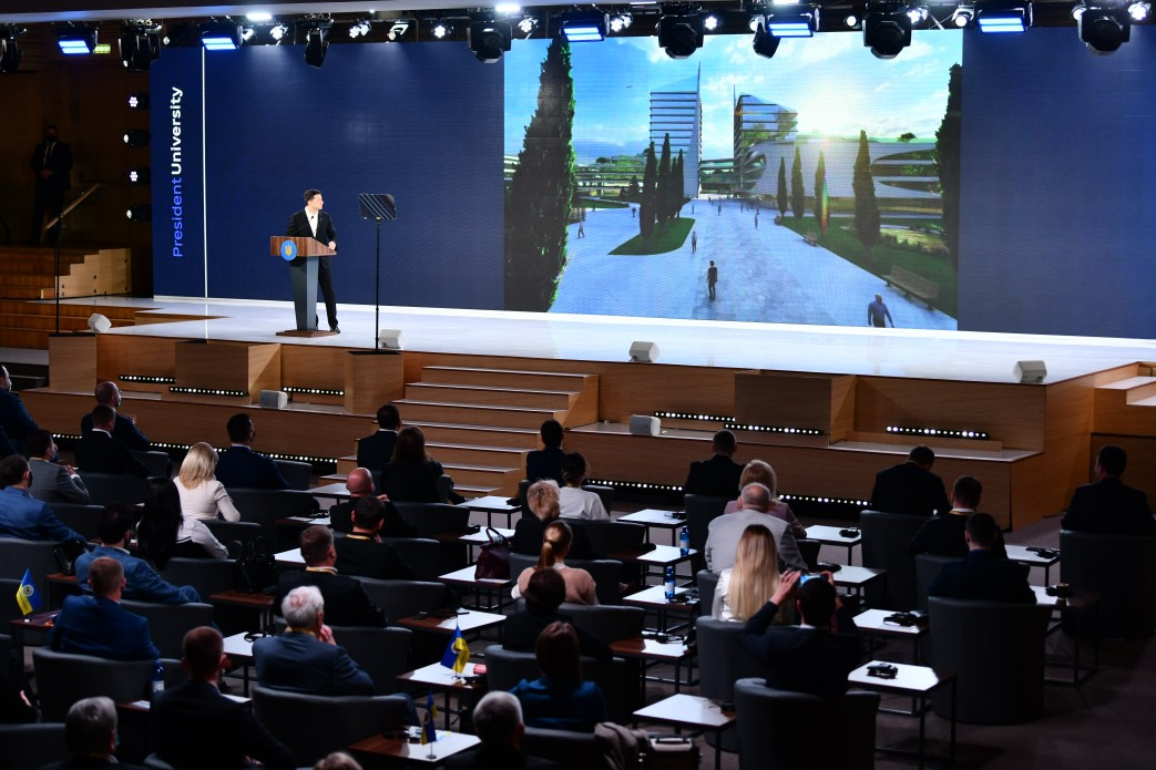 Володимир Зеленський ініціював створення Президентського університету, який готуватиме фахівців майбутнього
