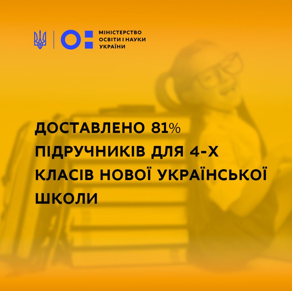 Рівненська область забезпечена на 100% підручниками для 4-х класів НУШ